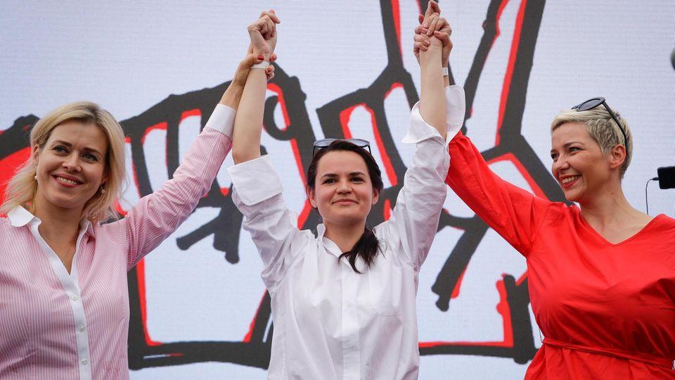 """Diese drei Frauen kämpfen gegen """"Europas letzten Diktator"""": Alexander Lukaschenko"""