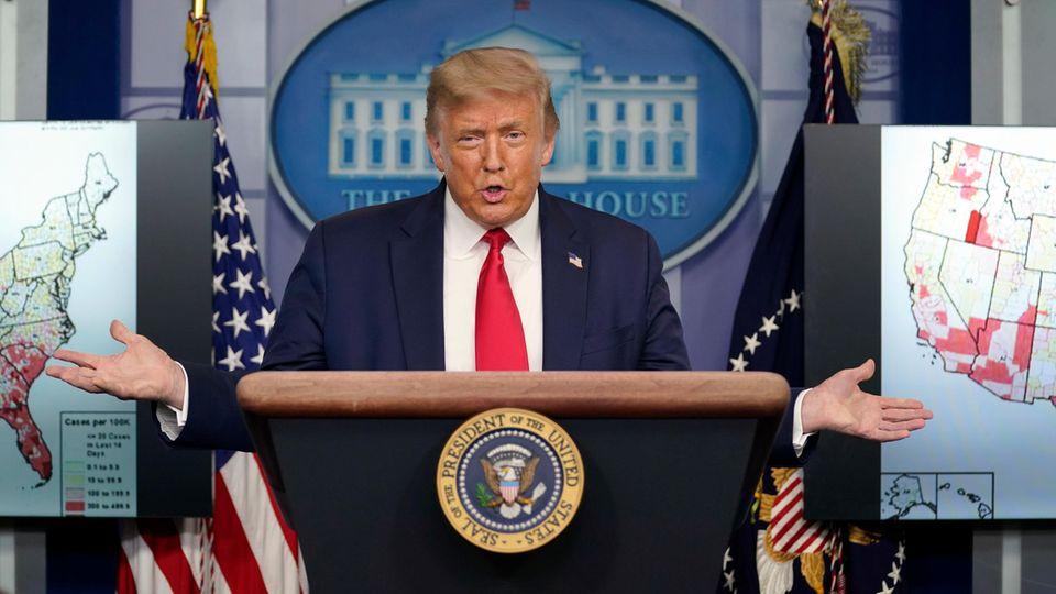 US-Präsident Donald Trump scheint das Coronavirus seit dieser Woche deutlich ernster zu nehmen