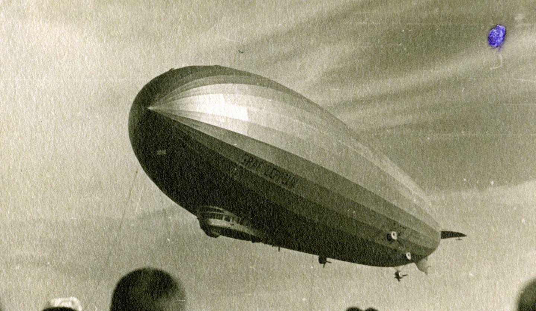 Der Zeppelin LZ 127, hier abgebildet während einer Fahrt im Jahr 1931