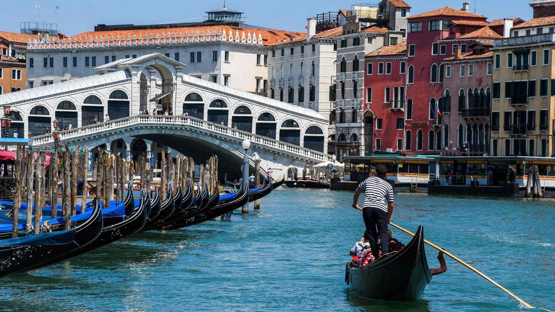 Eine Gondel in Venedig