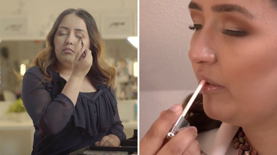 Blind and beauty influencer? Tina Sohrab shows how it works