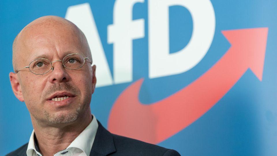Andreas Kalbitz, Vorsitzender der AfD-Fraktion im Landtag von Brandenburg