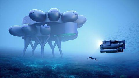 Ein Designentwurf der Proteus genannten Unterwasserstation