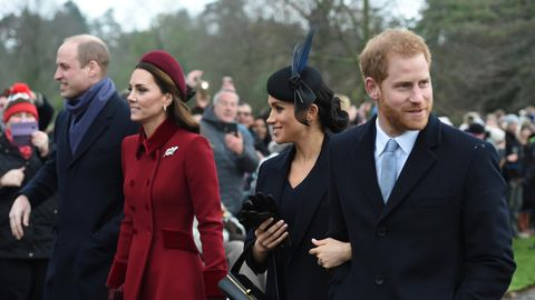 Prinz William, Herzogin Kate, Herzogin Meghan und Prinz Harry