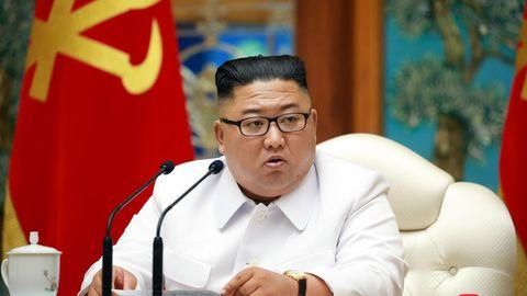 Nordkorea: Kim Jong Unbei einer Notstandssitzung des Politbüros wegen der Coronavirus-Pandemie
