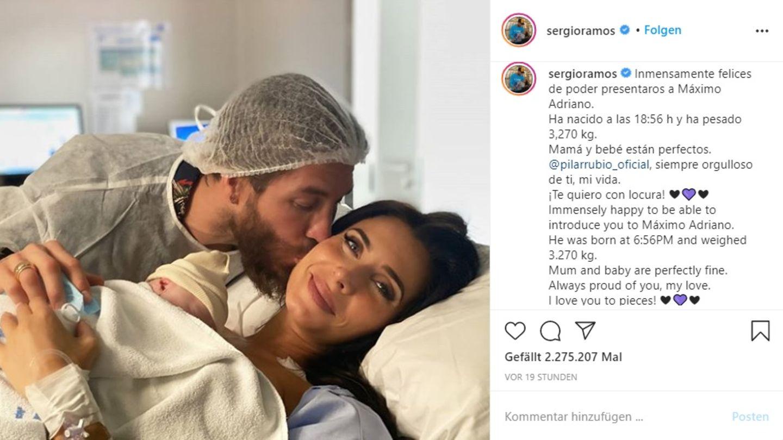 Vip News: Sergio Ramos ist zum vierten Mal Vater geworden