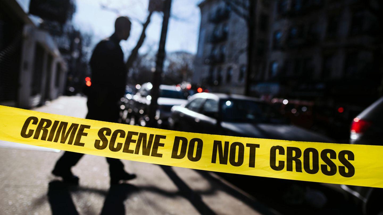 Crime-Scene-Banner an einem Tatort in New York