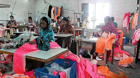 Textilarbeiterinnen in Dhaka
