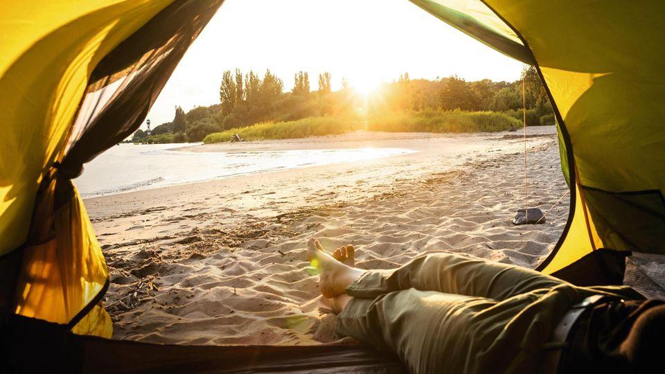 Camping am Elbstrand