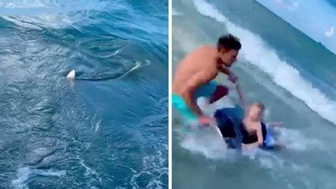 Polizist rettet Jungen vor einem Hai