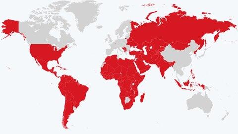 Vom RKI eingestuft : Das sind die aktuellen Corona-Risikoländer