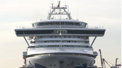 "Das Kreuzfahrtschiff ""Diamond Princess"" im Hafen vin Yokohama, Japan"