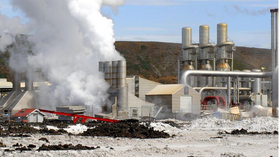 In Island muss man nicht tief bohren, um an heißes Wasser zu gelangen.