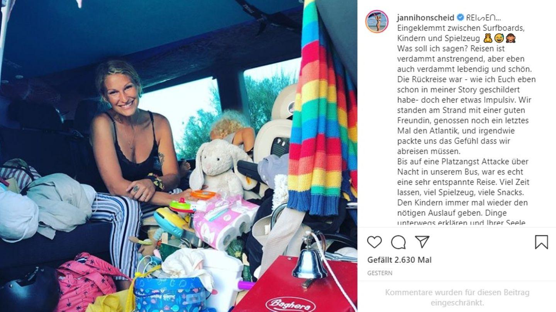 Vip News: Janni Hönscheid erleidet im Urlaub Panikattacke