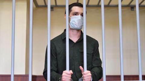 Moskau: US-Soldaten Trevor Reed bei der Urteilsverkündung.