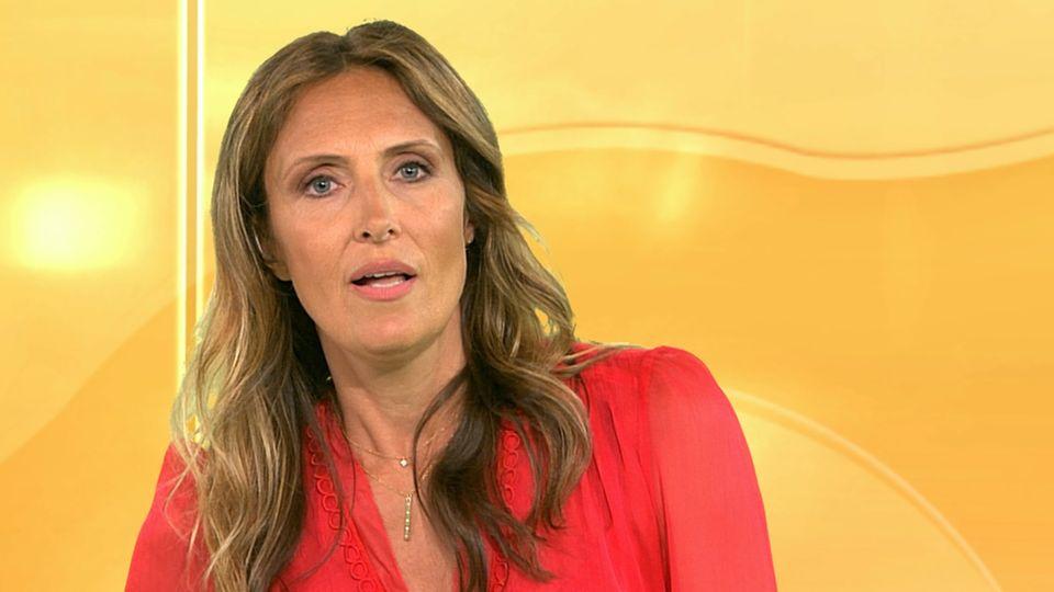 RTL-Moderatorin Roberta Bieling leidet unter einem Schwächeanfall während einer Live-Sendung.