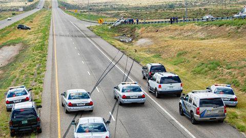 Die Unfallstelle auf der Interstate 25
