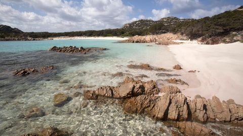 Pink Beach auf der Insel Budelli