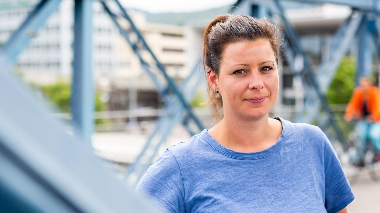 """Fan-Sprecherin Helen Breit von der Initiative """"Unsere Kurve"""""""