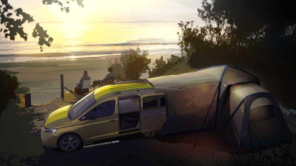 Glamping mit VW - das verspricht das neue Zeltsystem.
