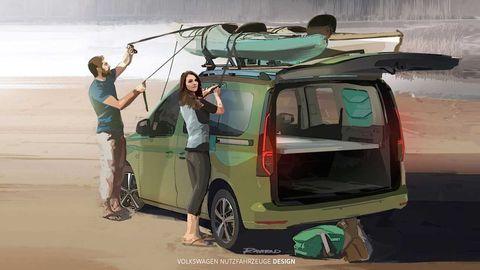 Der Caddy Mini-Camper ist wesentlich günstiger als die größeren Reihen von VW.