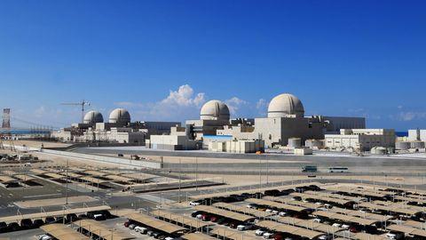 Der Reaktorblock I des Akw Barakah an der Nordwestküste der Vereinigen Arabischen Emirate isthochgefahren worden