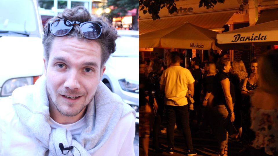 Im Interview erzählt ein Feiernder, warum er trotz Verbots noch im Hamburger Schanzenviertel unterwegs ist.