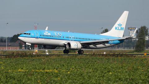 Eine Boeing 737 der niederländischen KLM