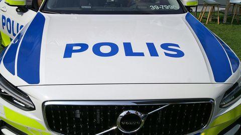 Ein schwedisches Polizeiauto