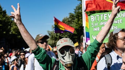 Anti-Corona-Demos in Berlin