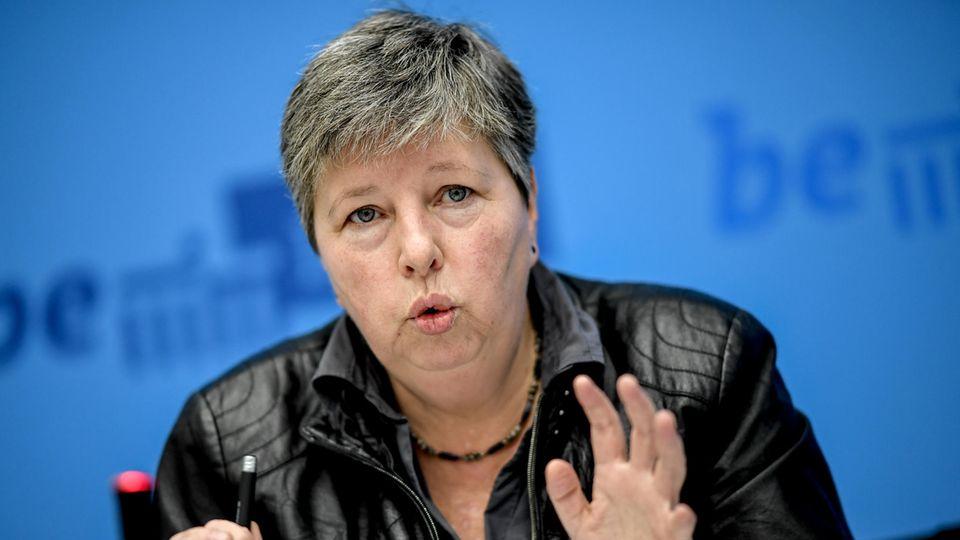 Linke-Politikerin und ehemalige Berliner Bausenatorin Katrin Lompscher