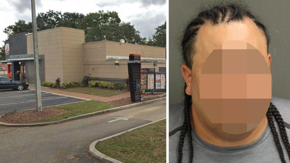 Filiale von Burger King am Rande von Orlando im US-Bundesstaat Florida; Mordverdächtiger Kelvis R.