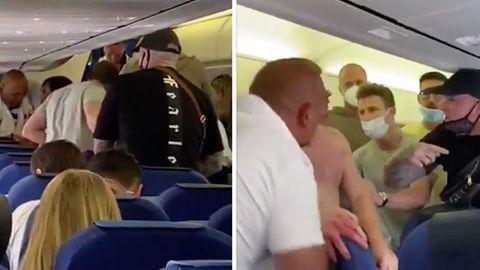 Maskenverweigerer im Flugzeug