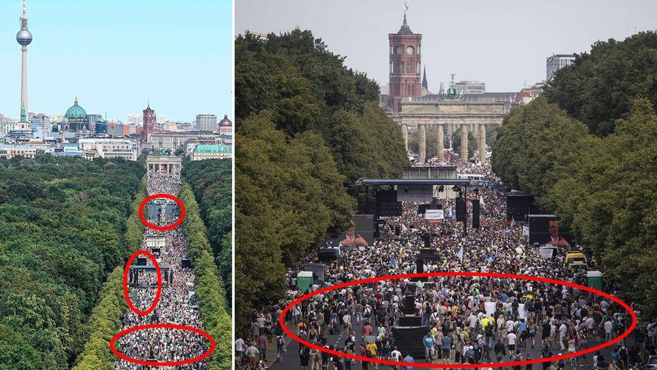 Berlin: 1,3 Millionen bei Corona-Protest? Fakes verbreiten sich im Netz