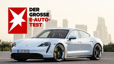 Der Porsche Taycan ist mit deutlich über 100.000 Euro das teuerste Modell im Test: Eine Sportlimousine mit sehr kurzer Ladedauer.