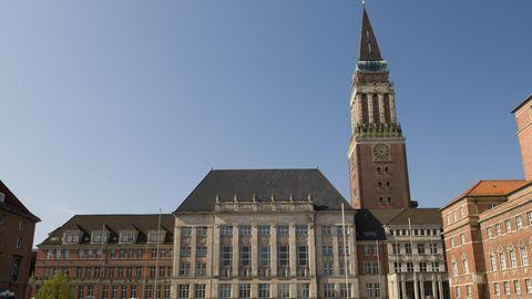 Der Rathausplatz in Kiel