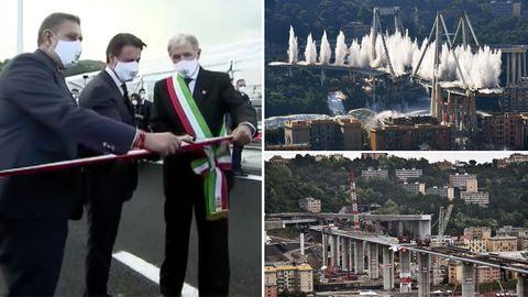 """Genua-Brücke feiert """"Wiedergeburt"""" zwei Jahre nach Katastrophe"""