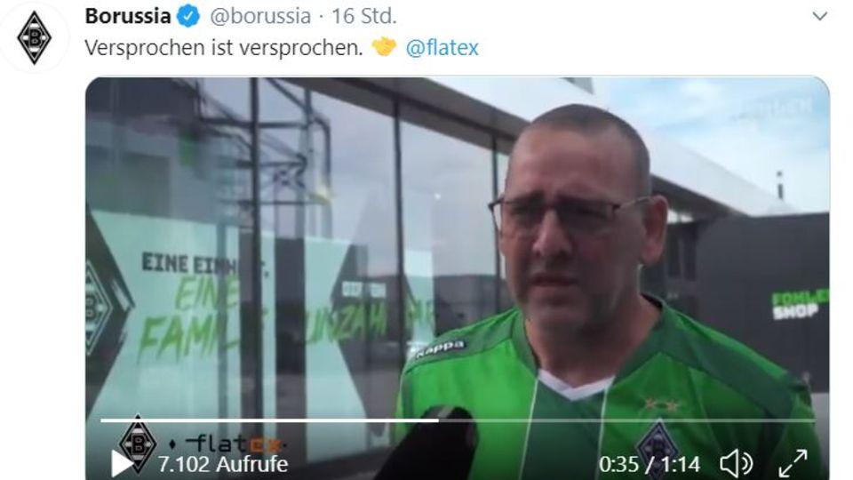 Screenshot des Galdbach-Fans Claus Blümel aus dem Fohlen TV
