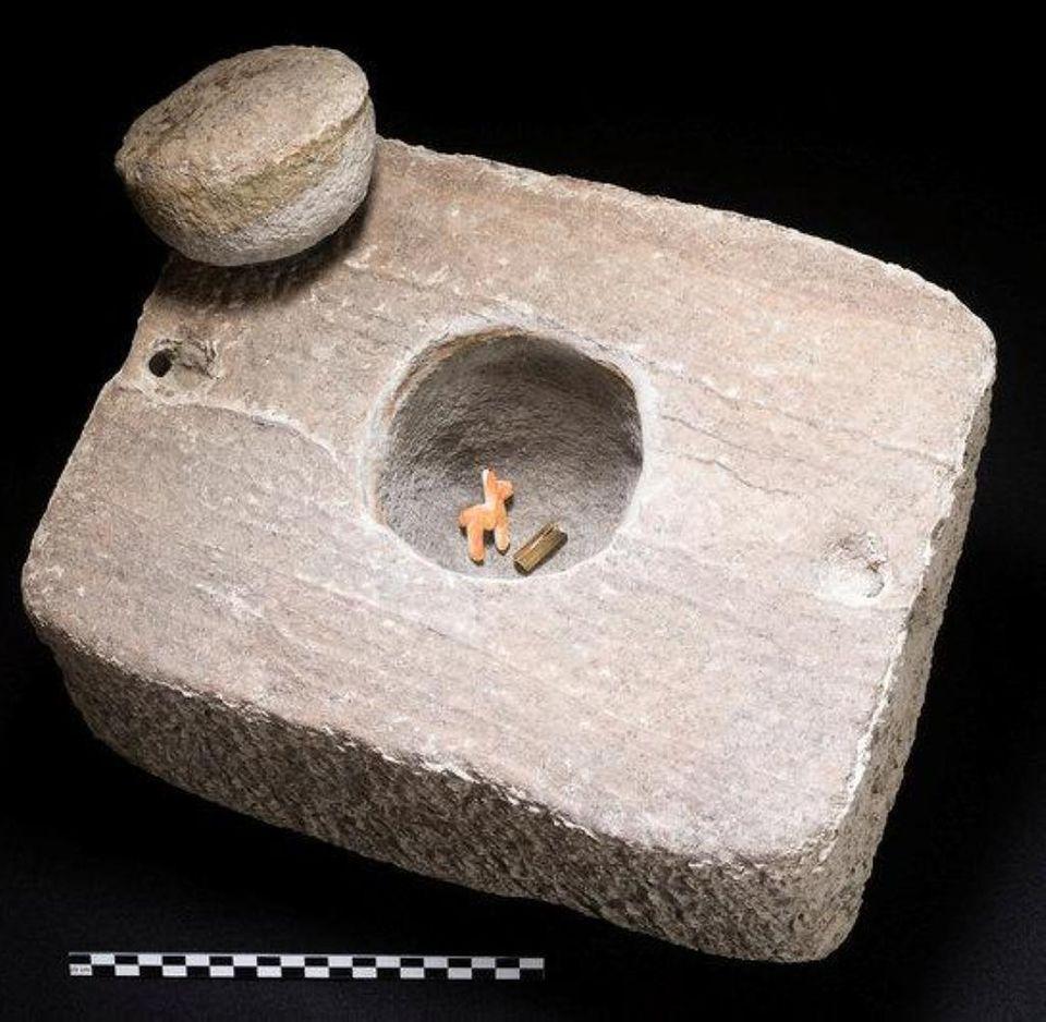 In der Kiste erkennt man die Größe der Objekte.