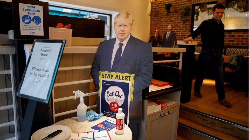Pappaufsteller von Boris Johnson