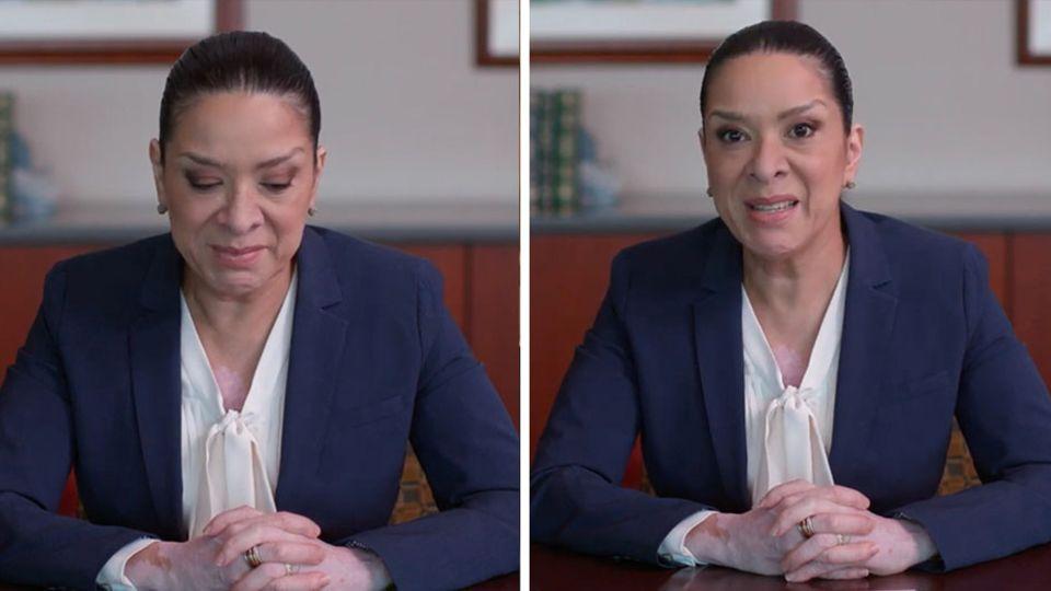 Esther Sala in ihrer Videobotschaft
