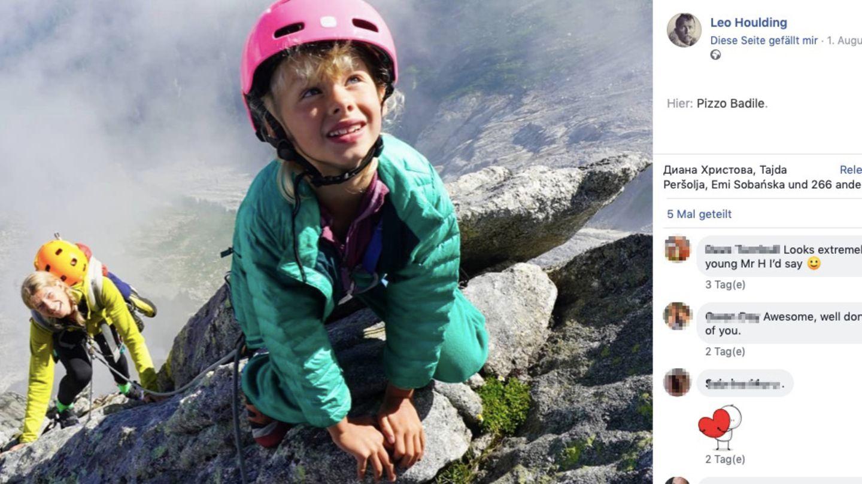 Freya Houlding klettert am Piz Badile