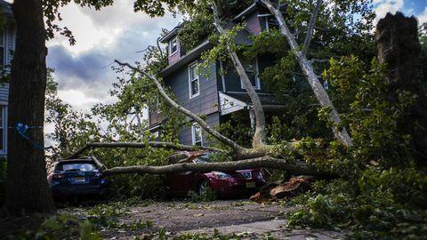 """Bogota, New Jersey: Die Schäden nach dem Tropensturm """"Isaias"""""""