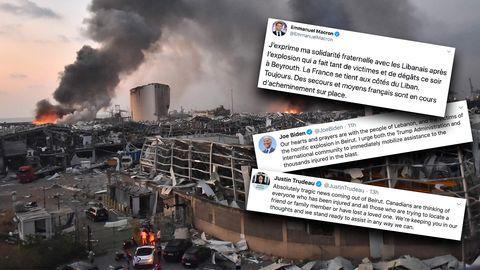 Nach der schweren Explosion in Beirut äußern sich zahlreiche Politiker.