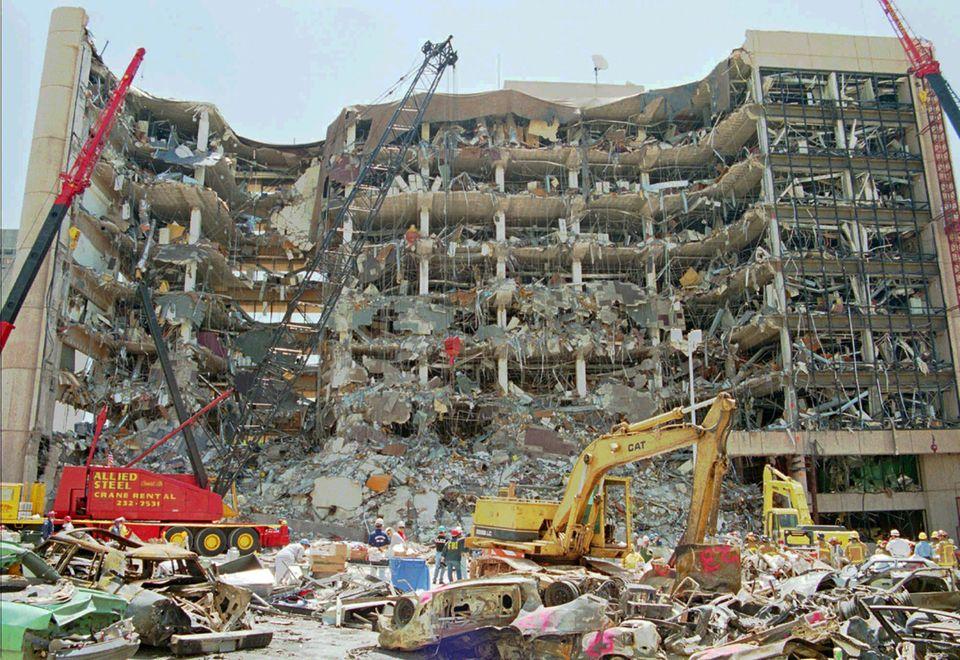 Zerstörtes Regierungsgebäude in Oklahoma City
