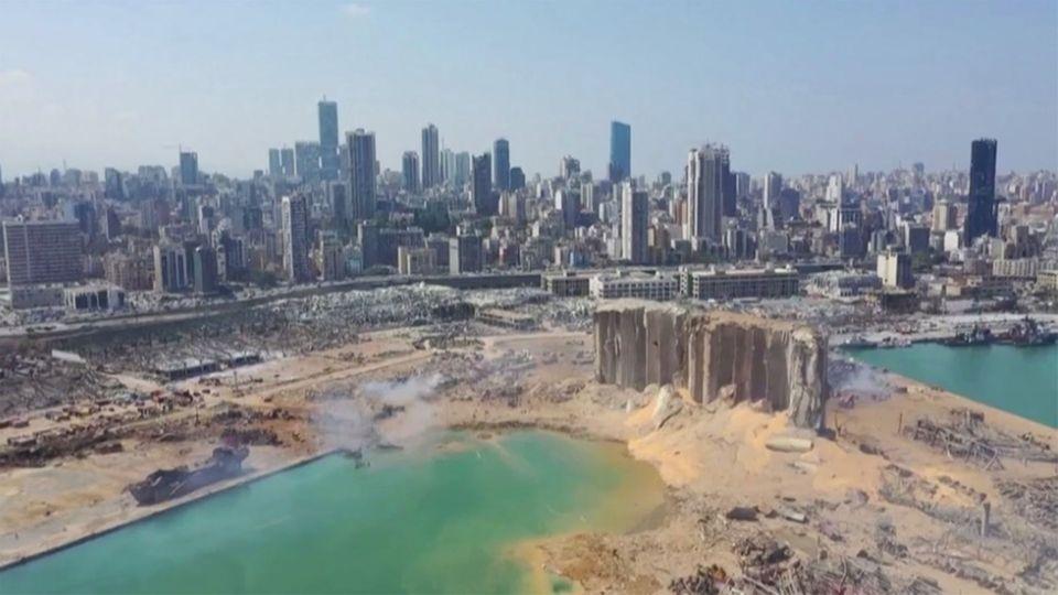 Beirut-Luftaufnahmen: So sieht es am Tag nach der Explosion aus