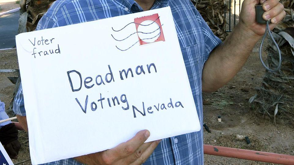 Protest gegen Briefwahl in Nevada