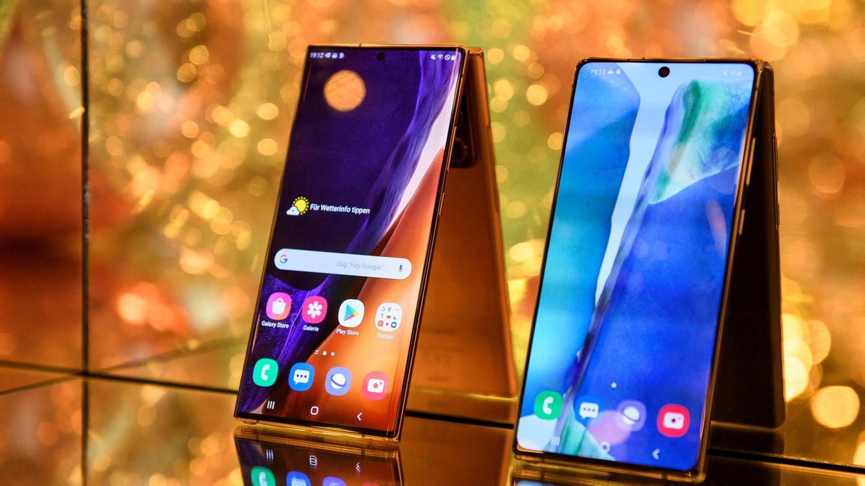Die beiden Modelle des Galaxy Note 20 waren die Stars des Events