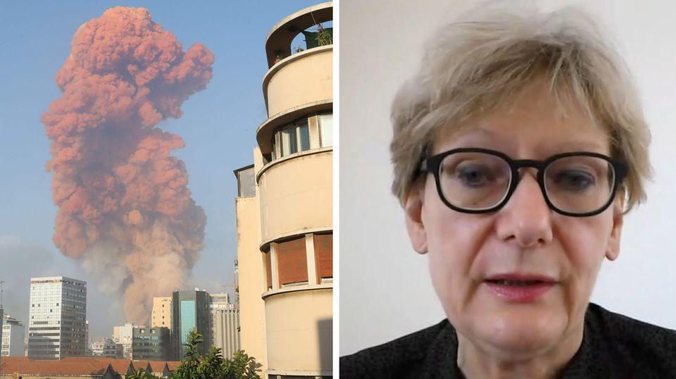 Prof. Birgit Schäbler, Direktorin des Orient-Instituts Beirut, redet mit dem stern über die Explosion in Libanon.