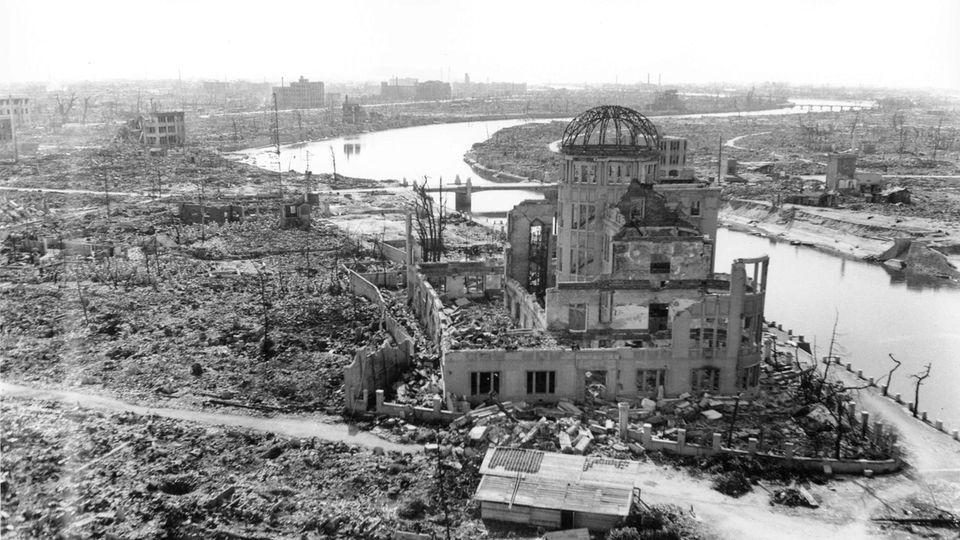 Hiroshima nach dem Atombomben-Abwurf vor 75 Jahren